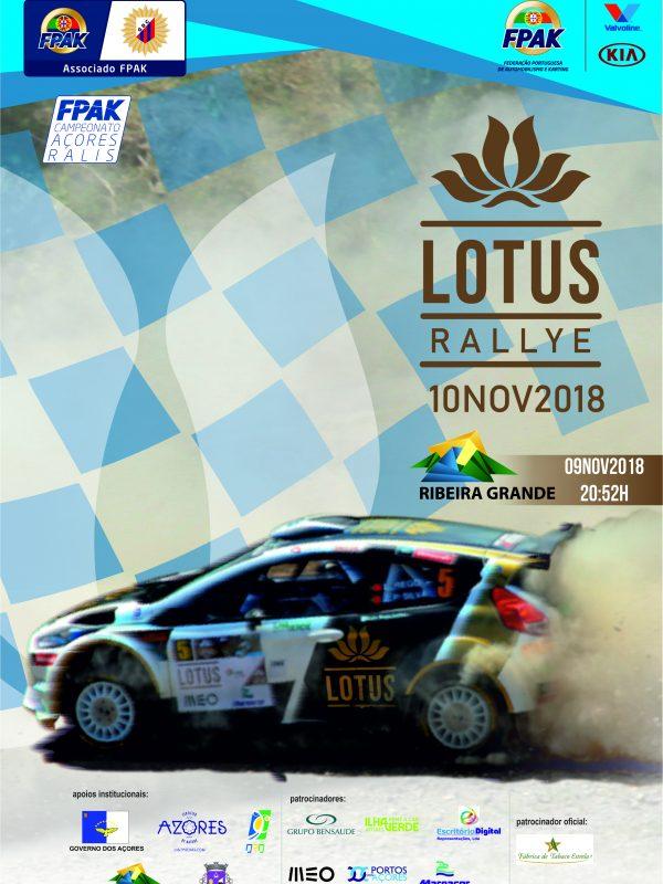 Cartaz Lotus Rallye 2018